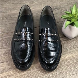 Paul Green Studded Patent Slip On Loafer
